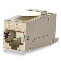 BELNET RJ45 CAT7 CAT6A FTP Shielded Keystone Jack To LSA Tool Free Connection Ethernet Network Cable