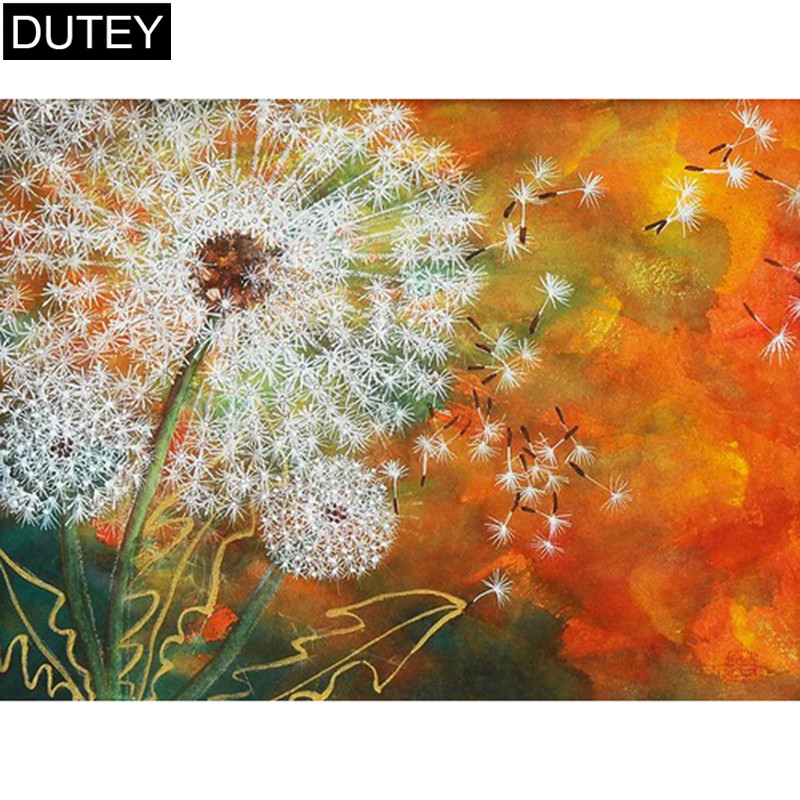 """Full Square/Round Drill 5D DIY Diamond Painting""""Dandelion flower""""Embroidery Cross Stitch Mosaic Home Decor Gift JCC"""
