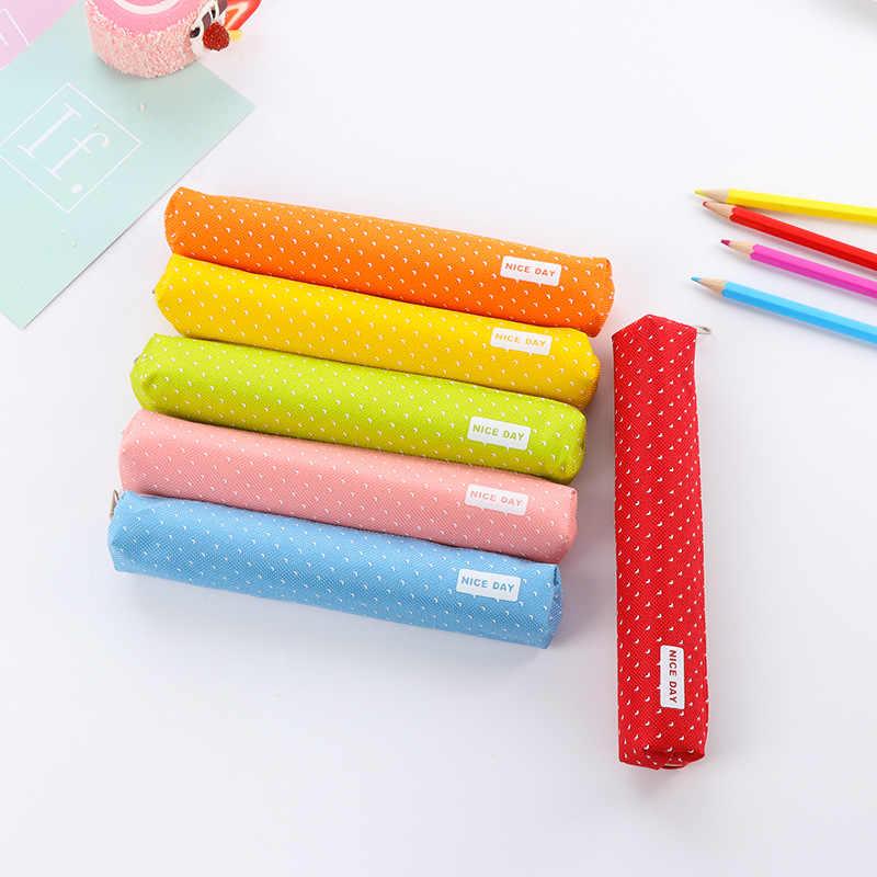 Nowy śliczne Kawaii brezentowa torba na długopis cukierki kolorowy piórnik biurowe prezent biuro szkolne piórnik piórnik BD31