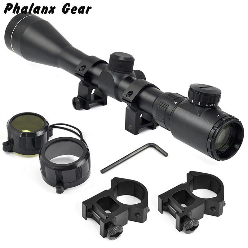 Tactical Military Gear 3-9x40 Eg Red / Green Sniper Air Rifle Optics Scope 20mm Rail Mount Hunting Accessories