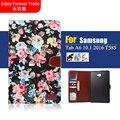 Высокое качество, Модные Печатных ткань смарт Tablet Case Cover For Samsung Galaxy Tab A6 10.1 2016 T585 T580/N Luxury case
