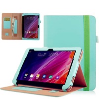 Luxury Cowhide Magnetic Stand PU Leather Folio Cover Case Card Hand Strap For ASUS Transformer Mini