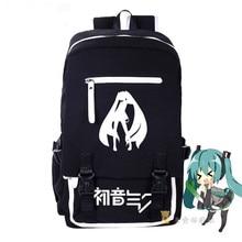 Moda Mochila de Lona de Alta Calidad de VOCALOID Hatsune Miku Anime Mujeres Grils Niños Cosplay Escuela Laptop