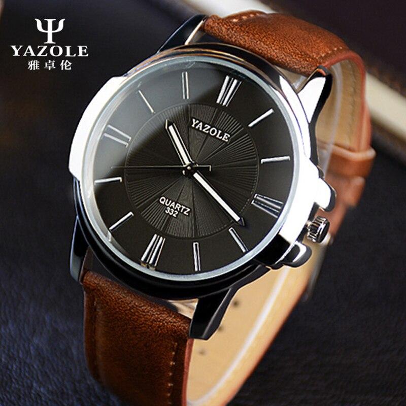 2016 YAZOLE Quarz-uhr Männer Uhren Top Luxury brand Männlich Armbanduhr leder Business quarzuhr relogio feminino Männliche Uhr