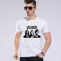 Новое поступление модные Курт Кобейн Нирвана футболка рок-группа панк Дизайн Футболка с принтом Лето o-образным вырезом Hipster Футболки l9k204