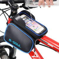 Contrast Design Bicycle Bag with Touch Screen Phone Holder