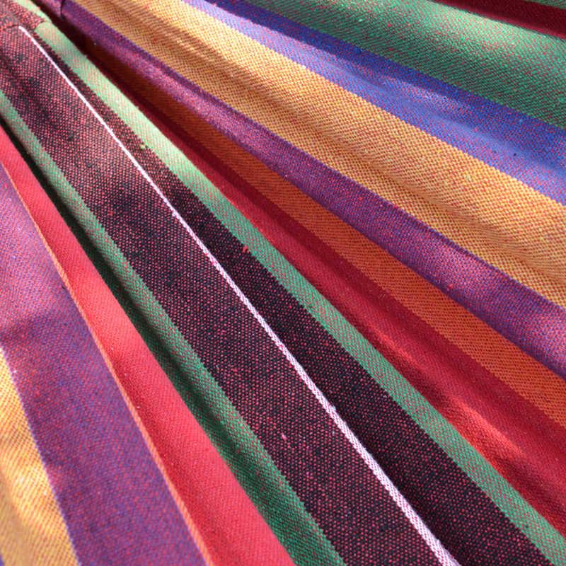 VILEAD стабильный 200*80 см гамак Сверхлегкий Холст Кемпинг гамак изогнутый, деревянный Stick устойчивый сад качели подвесной стул радуга цвет