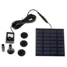¡ Promoción! sin escobillas DC Bomba de Agua Solar Kit Panel Piscina de la Fuente de Poder de Riego Del Jardín Pumb