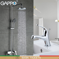 GAPPO Basin Faucets Shower Faucets shower tap faucet bathroom mixer water sink tap rainfall shower set Sanitary Ware Suite