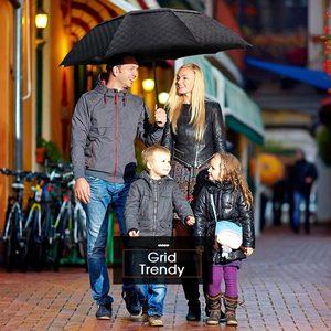 Image 5 - Double Layer Big Umbrella Rain Women Men 3Folding 10K Windproof Business Umbrellas Male Dark Grid Parasol Family Travel Paraguas