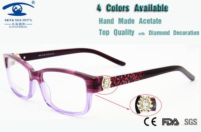 Computador de luxo Mulher Frame Ótico Óculos de Armação Oculos Designer de Moda Feminina Diamante de Qualidade Original Novo 2015