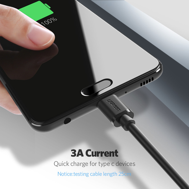 Ugreen 3A USB C Cable for Samsung Galaxy S9 Plus USB Type C Fast Charging Data Cable for Xiaomi mi 8 Oneplus 6 USB Charger Cord 1