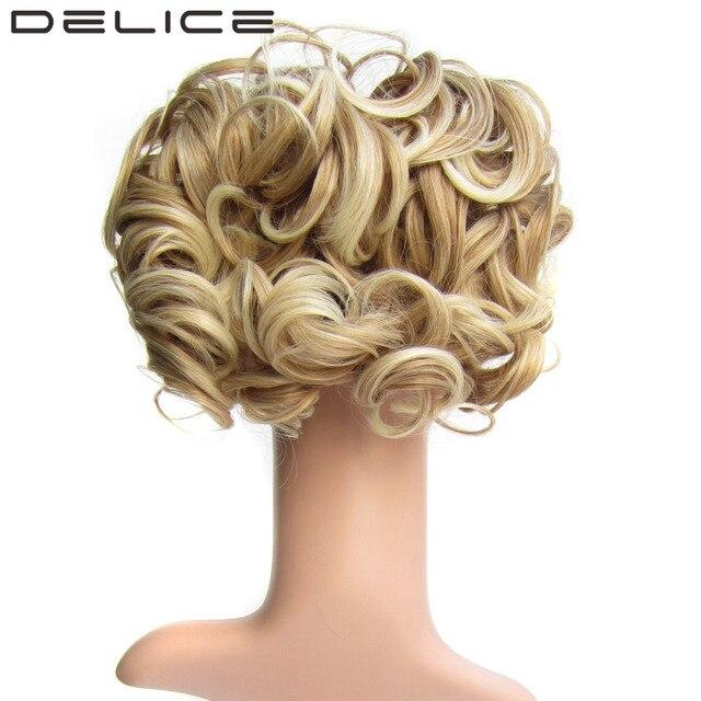 Delice Short Curly Chignon Synthetic Blonde Burg Big Bun Hair