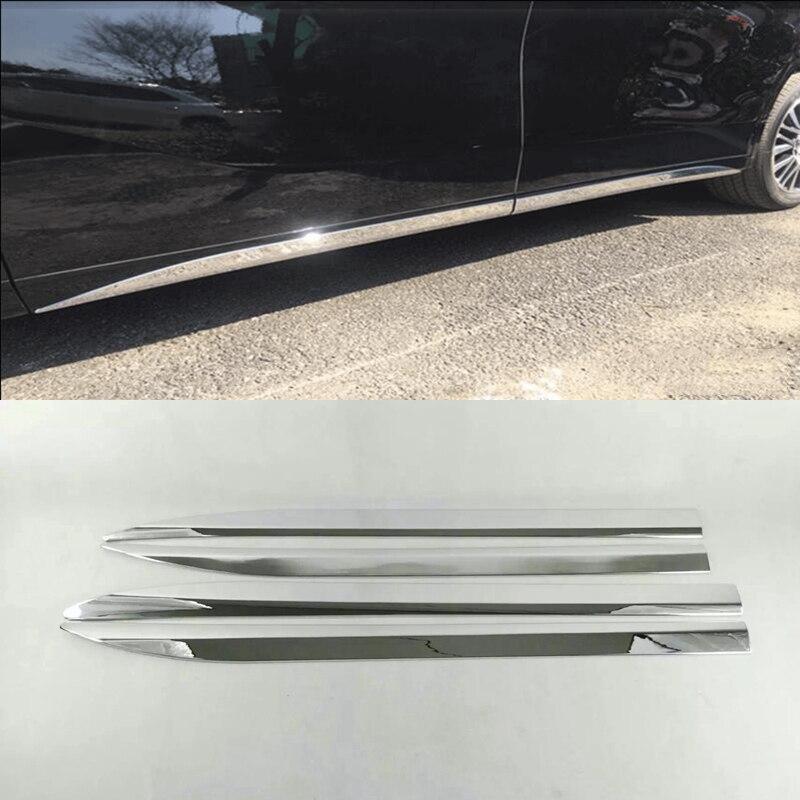 MONTFORD ABS Chrome Voiture Porte Corps Jupe Latérale De Moulage Garniture Styling Décoration Bande Pour Toyota Alphard Vellfire 2016 2017 2018
