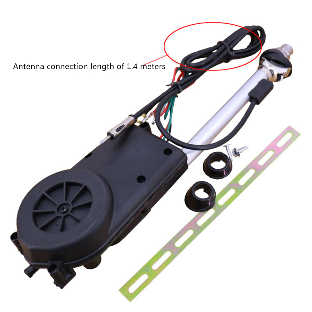 Universal Car Aerial Antena Electric 1PCS Auto Radio Antenna Automatic Booster SUV Electric Power 12V FM/AM Retractable Antenna