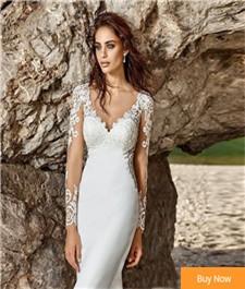Romantic-Long-Sleeve-Mermaid-Wedding-Dress-2017-Vintage-V-neck-Beach-Wedding-Gown-Lace-Bohemian-Wedding