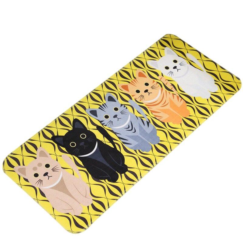 Cute Cartoon Cats Door Carpet Non-slip Floor Mat Bathroom Bedroom Kitchen Rug MYDING
