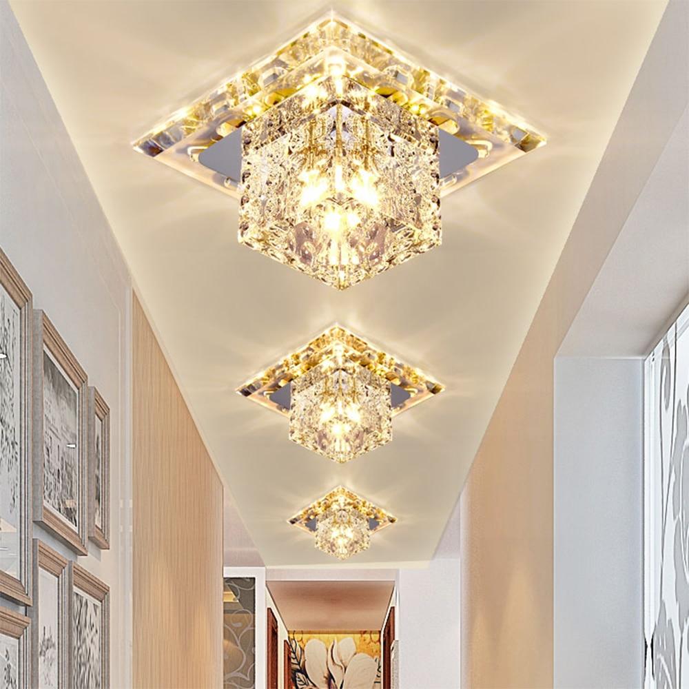 Flush Mount Crystal LED Spotlight Lamp 110V 220V LED Downlight Light ...