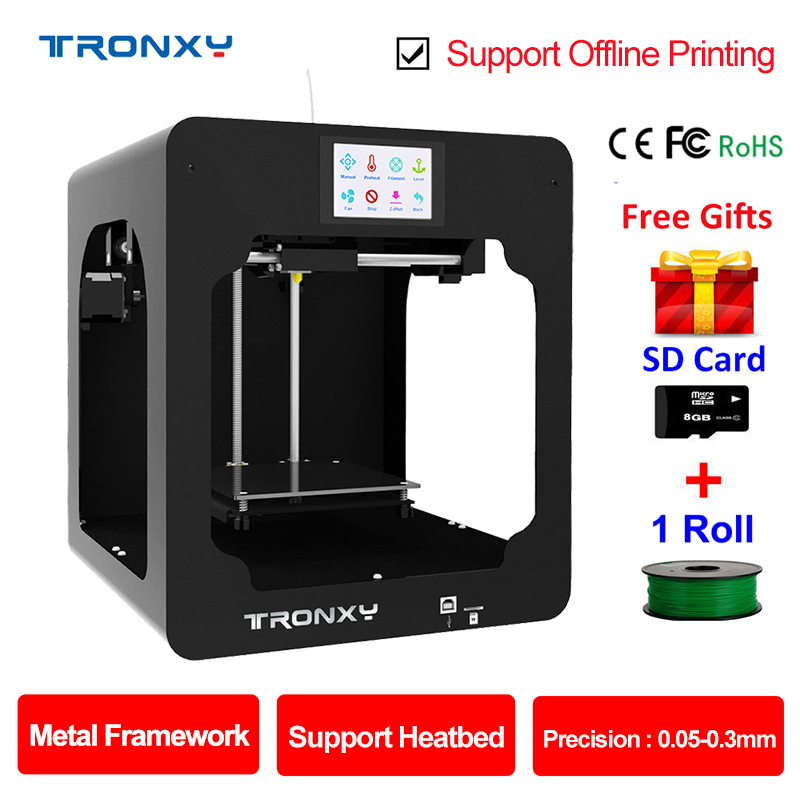 Tronxy 3D Printer Kit Full Metal frame Direct Extrusion Support Heatbed Touch Screen DIY Printer 3d Printing Size 150*150*150mm best tronxy p802m auto level 3d printer diy full kits direct extruder mk3 heatbed 3d printing 3dcstar p802 mhs