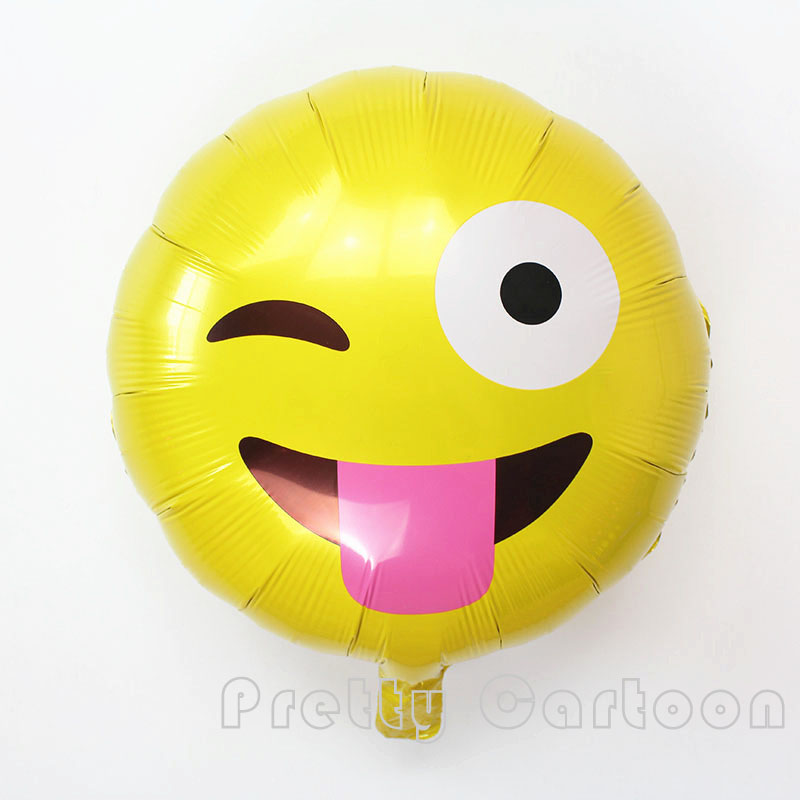 18 Expression Balloons Emoji Foil Balloon Happy Birthday Party Emoticons Helium Ballon Wedding Decor Inflatable Balls In Ballons Accessories From Home