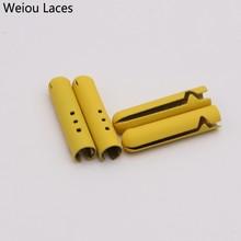 Weiou 4 шт. наконечники для шнурков, крепящиеся на шнурках из металлического сплава, декоративные концы для брюк, Креативные аксессуары для шнурков 4,5*22 мм