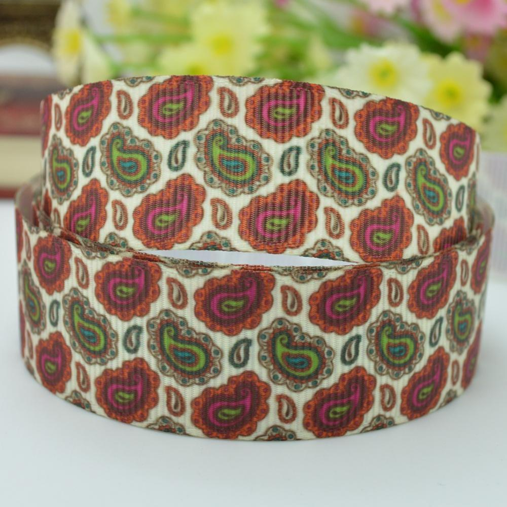 Paisley pattern Paisley DIY handmade hair accessories 22mm print grosgrain ribbon 7/8 new decorative tape