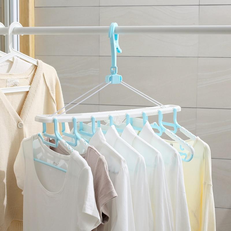 Многофункциональный вешалка для одежды Творческий Толстые пластиковые вешалки для одежды ветер для сушки одежды дома органайзера