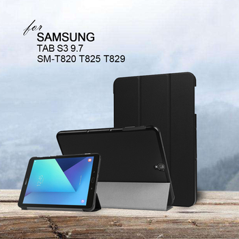 цена на Caser for Samsung Galaxy Tab S3 TM-T820 T825 T829 Folding Folio Case PU 9.7 Inch T820 T825 Tablet Cover