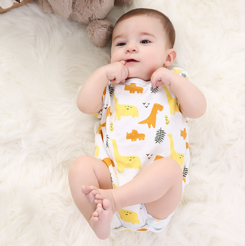 Newborn Baby Summer Bodysuit Short Sleeve Clothes Boy Girl Toddler Cartoon Casual 2019 Summer Clothes Bebes Infant Outfits Kids
