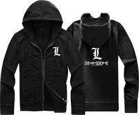 Men S Women S Winter With A Hood Death Note L Sweatshirt Cardigan Zipper With A
