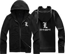 Unisex winter hood Death Note L sweatshirt cardigan zipper hoodies jackets