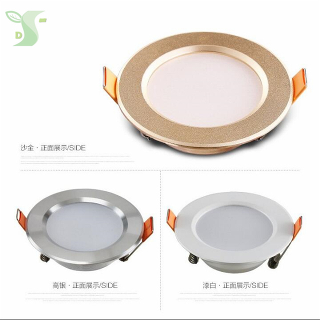 14pcs/lot free shipping 3w/5W led panel lighting Downlight AC85-265V,SMD 5730 3color dimmable Warm /Cool white,indoor lighting