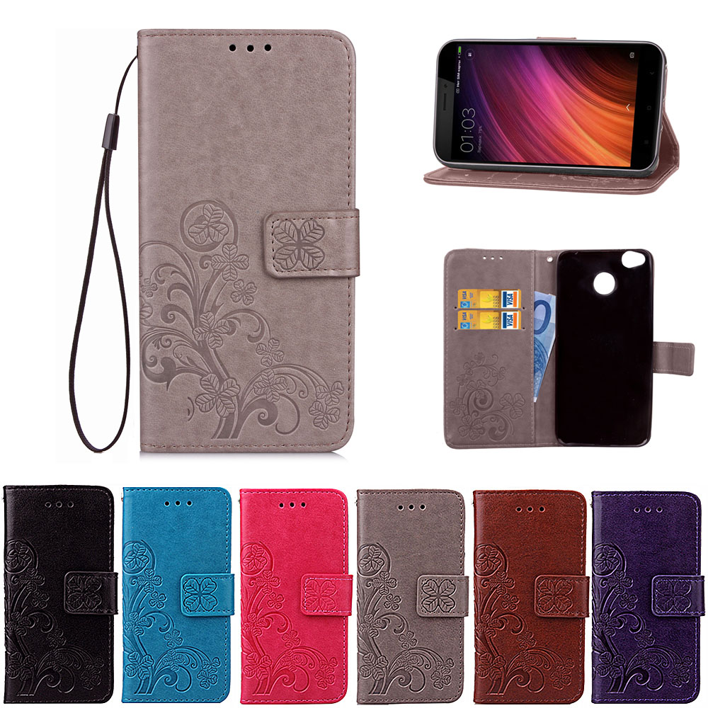 Xiaomi Redmi 4X Case Flip Wallet PU Housse en cuir pour Xiaomi Redmi 4X Cover Haute Qualité Book Stand Slot Slot Card Phone Cases