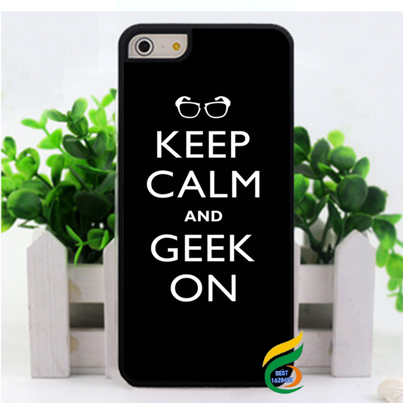 keep calm and font b geek b font on fashion cell phone case cover for iphone