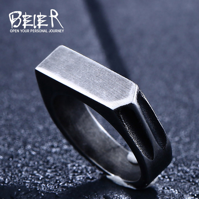 BEIER drop shipping  New Design Retro style stainless steel Unique Ring for man Antique Jewelry LLBR8-437R