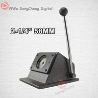 New Heavy Duty Manual Round 58 Mm 2 1 4 Paper Cutter Stand Die Cutter Button