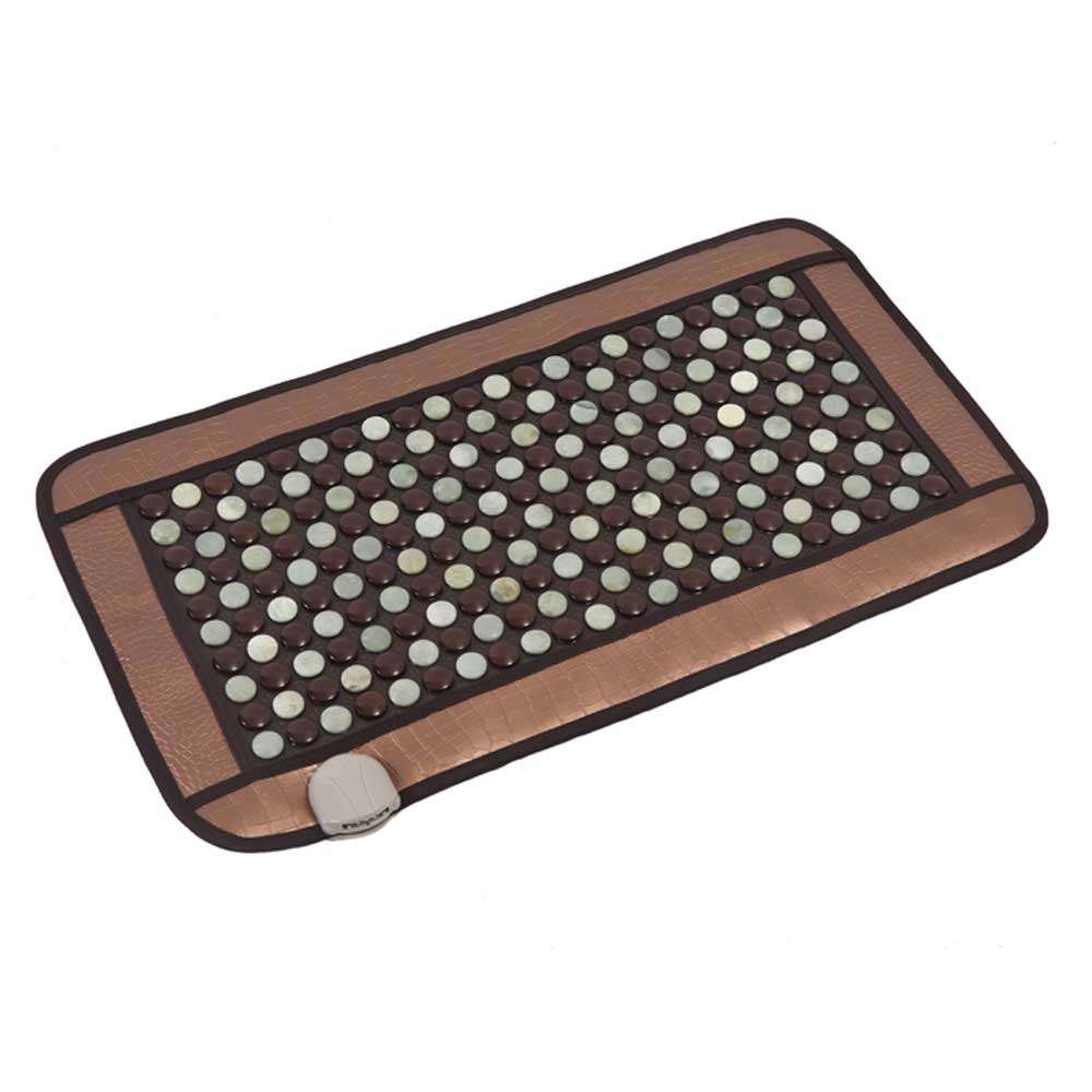 POP RELAX Mixed tourmaline jade infrared heating magnetic therapy flat mat Mattres Germanium stone cushion massager Russian