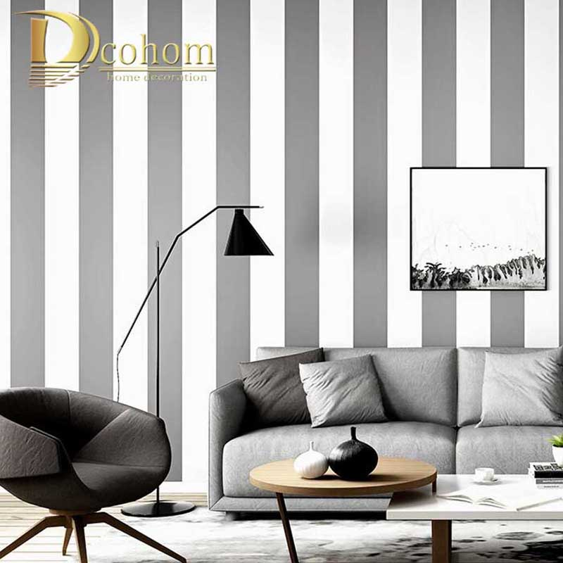 Plain Wall Paper Roll Silver Grey Striped Wallpaper Beige Brown Vertical Stripes Wall Coverings Home Decor PVC&Vinyl Waterproof wallpapers youman 3d brick wallpaper wall coverings brick wallpaper bedroom 3d wall vinyl desktop backgrounds home decor art