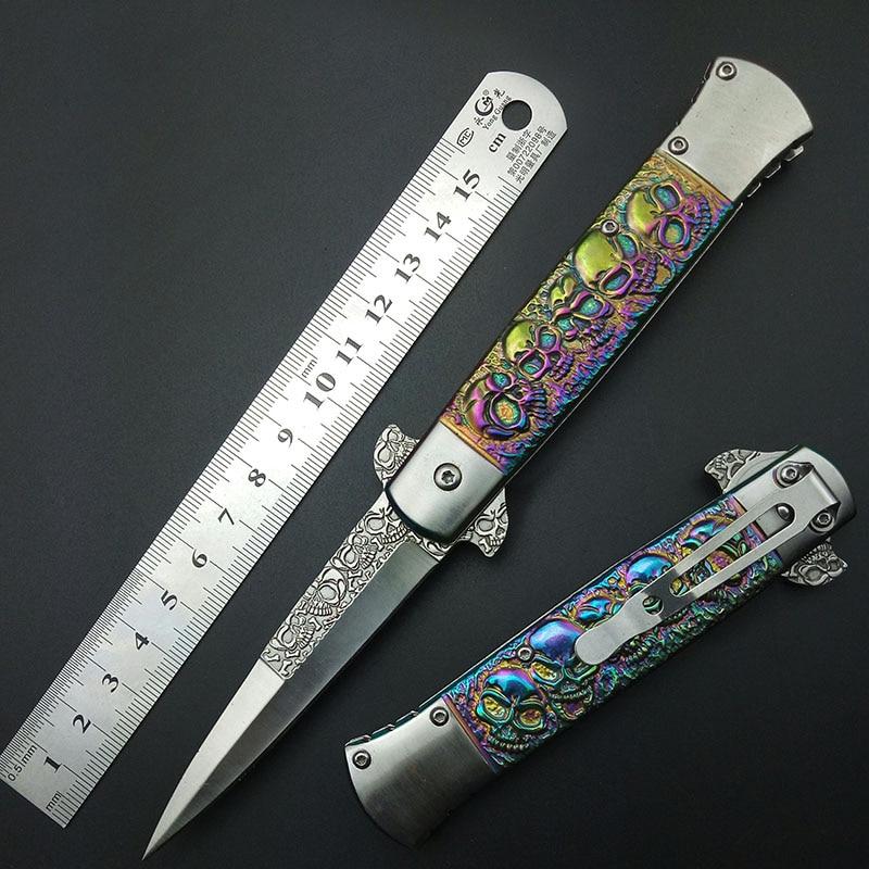 Coltello per utensili da esterno in titanio di colore Italia Coltello multifunzione Coltello multifunzione da tasca pieghevole Coltello pieghevole 440c colorato
