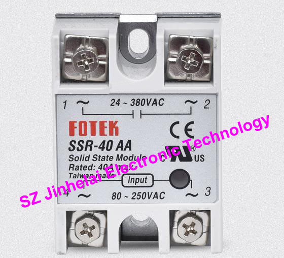 New and original FOTEK Single-phase solid state relay  SSR-40AA   40A 100% new and original fotek photoelectric switch a3g 4mx mr 1 free power photo sensor