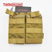 MOLLE 7.62 Pouch Double Magazine Pouch CORDURA Modular Combat Hunting Camping Climb Tactical Hike TW M002