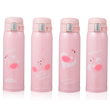 Fashion Flamingo Thermos Portable Thermal Vacuum Flask Stainless Steel Insulated Thermo Cup Coffee Mug Drinkware