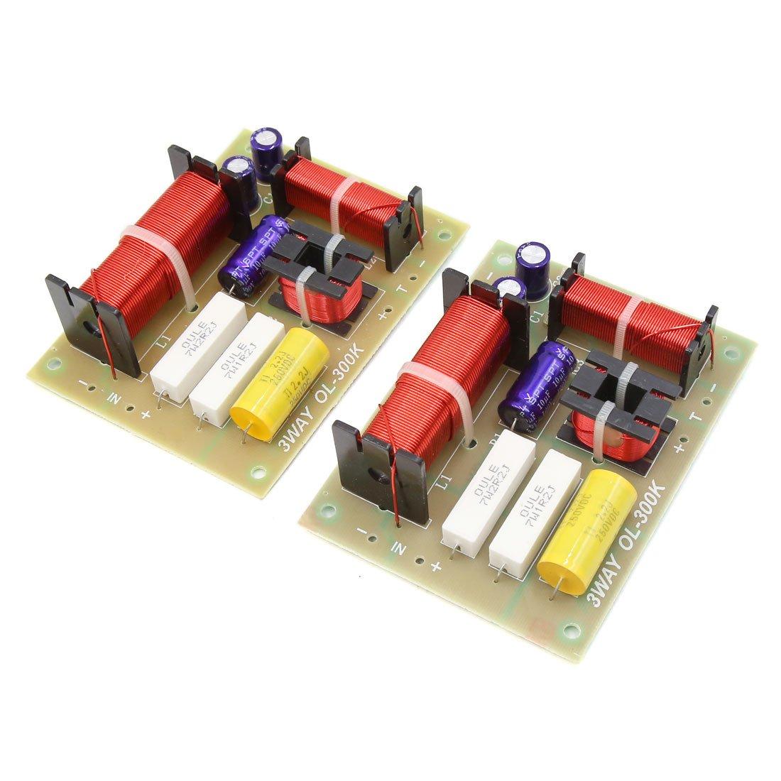 Uxcell 2 pcs 180 w 850/4800 hz 3 Façon Voiture Audio Crossover Filtre Haut-Parleur Diviseur de Fréquence