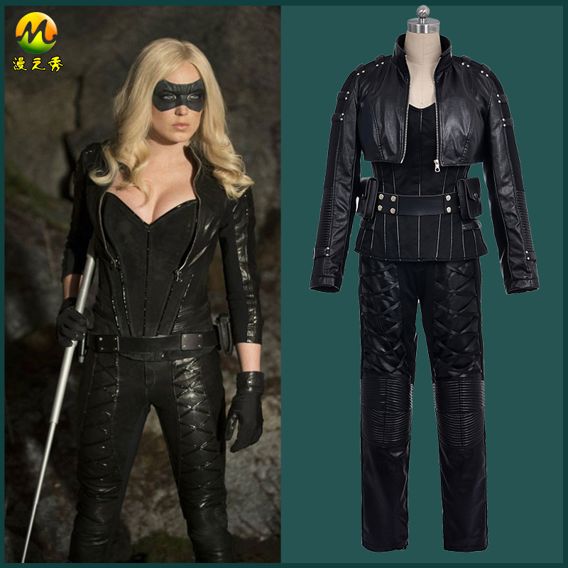 Hallowmas Christmas Game Anime Green Arrow Black Canary Sara Lance Cosplay Costume Outfit Full Set for Adult Any Size NEW