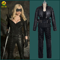 Hallowmas Christmas Game Anime Green Arrow Black Canary Sara Lance Cosplay Costume Outfit Full Set For