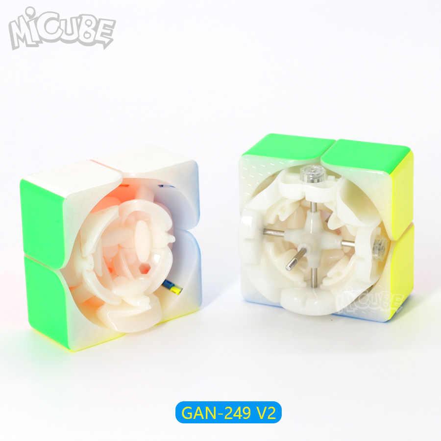 Ган 249 V2 м 249 Магнитный куб Stickerless Magic Скорость Cube 2x2x2 головоломки конкурс игрушка Cubo WCA Чемпионат 2x2 с помощью магнитов