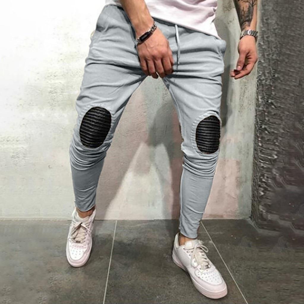 Logical Men Slim Fit Urban Straight Leg Trousers Casual Pencil Jogger Long Pants Size Striped High Street Hot Pants For Man Pants