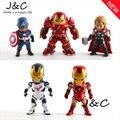 5 unids/set Avengers 2 Age de Ultron juguetes de PVC figura Thor Hulk Iron Man capitán américa figuras de acción de juguete envío gratis