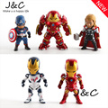 5pcs/set Avengers 2 Age of Ultron PVC Figure Toys Thor Hulk Iron Man Captain America Action Toy Figures Free Shipping