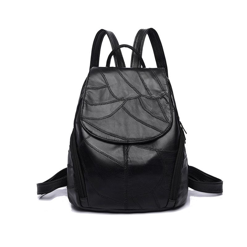 Women Bags Backpack Genuine Leather 2019 Female Patchwork 3pcs/Set Waterproof School Bag Mochila Bagpack Shoulder Bag Purse 445